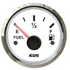 KUS Fuel Tank Gauge Boat Marine Fuel Level Gauge 240-33 OHMS Stainless Bezel