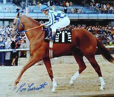 Secretariat  signed photograph Ron Turcotte autograph 11x14
