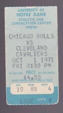 Oct 1 1971 Chicago Bulls vs Cleveland Cavaliers Ticket Collins Sloan Walker