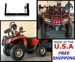 Universal Ice Auger Carrier Mount for ATV Four wheeler Front & Back Metal Rack