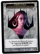 TOKEN EMBLEMA Liliana dei Reami Oscuri - of the Dark Realms MAGIC 2014 M14 Ita