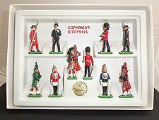 Britains 8007 tutte le Regine Uomini London Guardie METAL Toy Soldier Figure Set