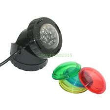 1.6W SINGLE 12-LED POND LIGHT SET 4 UNDERWATER FOUNTAIN FISH POND WATER GARDEN