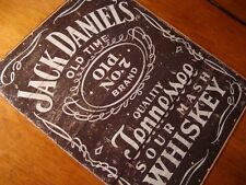 JACK DANIEL'S DANIELS OLD TIME TENNESSEE WHISKEY Rustic Wood Grain Bar Pub Sign