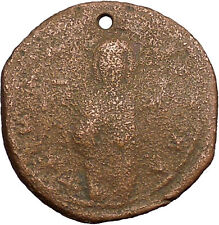 JESUS CHRIST Class C Anonymous Ancient 1034AD Byzantine Follis Coin  i39444