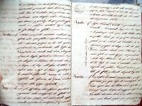 1825 MANOSCRITTO RAVENNATE SU AFFITO TERRENO A SAN PIETRO IN TRENTO