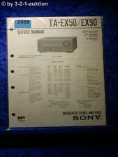 Sony Service Manual ta ex50/ex90 amplifier (#2668)