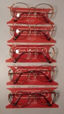 Vintage 5 pc. Gloria Vanderbilt Gv M6 Demi Amber 53/16 Eyeglass Frame Lot Nos