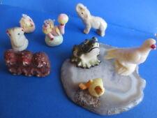 lot 8 vintage miniature animals figures hagen renaker duck
