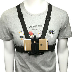 Chest Mount Harness Strap Phone Holder Action Camera POV For All Phones