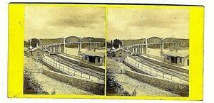 Vintage Photo 3D Stereo Viewing Card.Saltash Railway Bridge.
