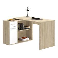 Schreibtisch Eckschreibtisch Kinderschreibtisch mit Regal Sonoma Eiche/weiß