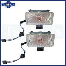 1970 Chevelle Front Parking Turn Signal Light Lamp Lens Housing Assembly PAIR