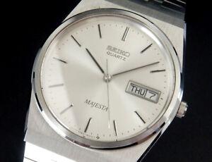 Full Original Seiko Majesta 1983 Vintage Quartz Mens Watch 9063 reloj montre uhr