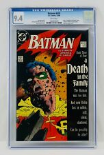 "Batman #428 CGC 9.4 NM ""Death in the Family Part 3"" Death of Robin (Jason Todd)"