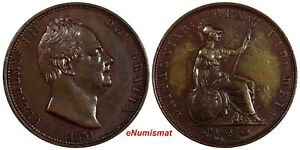 Great Britain William IV Copper 1831 1/2 Penny XF Condition KM# 706 (18 653)