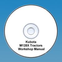 Kubota M128X M 128X Tractor  Workshop Manual