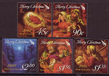 La Nouvelle Zélande 2005 Noël lot de 5 menthe non montés