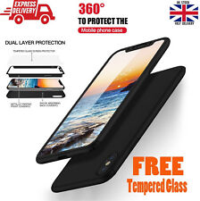 For Apple iPhone Xs Max 360° Full Body Shockproof Slim Case + Screen Protector