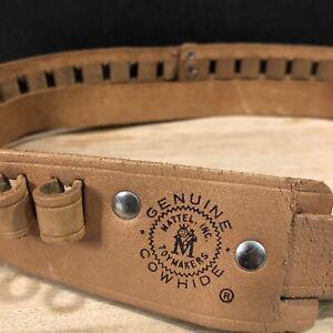 Vintage 1950-60s Mattel Toymakers Genuine Cowhide Ammo Belt in Amazing Condition
