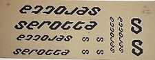 Genuine NOS Serotta 3M Vinyl Black / Silver Bike Frame Decals OEM Complete Set