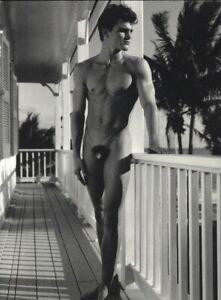 1999 Bruce Weber Nude Male Model Peter Johnson On Veranda Art Photo Gravure