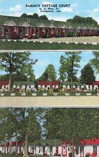 Postcard Rabun's Cottage Court Evergreen Alabama