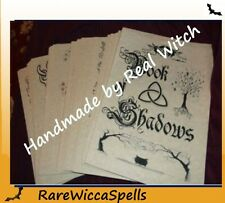 Wicca Book of Shadows 360+ Parchment Pgs Witchcraft Spells Pagan Magic