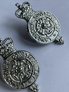 Lancashire Constabulary Metal Collar badges 35mm