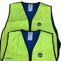 TWO Evaporative Cooling Vests Ergodyne Chill-Its 6665 Evaporative Lime XXL 2XL
