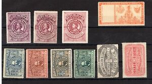 CHILE Oficial seals scarce items all them WITH small flaws thins must see