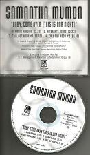 SAMANTHA MUMBA Baby come over w/ RADIO & ALTERNATE INTRO TRX PROMO DJ CD Single