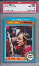 1979 Topps Hockey # 200 Guy LaFleur HOF NM MT PSA 8