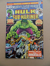 Marvel Super Heroes 55 . Hulk / Sub - Mariner . Marvel 1976 -  VF - minus