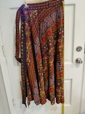 Indian Cotton Skirt - Wrap Around Style - Long