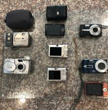 Lot Of 8 Digital/Film Cameras - 3 PowerShots - Panasonic DMC-TZ3 - See List B-lo