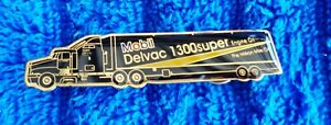 "NOS NEW Genuine Original MOBIL Delvac 1300 SUPER NASCAR 2.5"" Hat Pin ALL METAL"