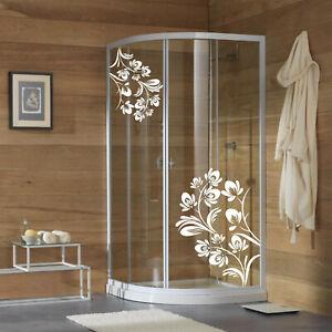 wall stickers adesivo adesivi fiori vetri box doccia decorazione bagno