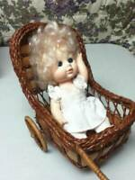 Vintage, 8in Eugene Blond Doll in 2-wheeler, Wicker Buggy or Stroller