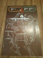 ORIGINAL VOLLEYBALL poster Moskow 1980