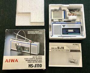 Vintage Boxed Aiwa HS-J110 Walkman Radio Cassette Recorder