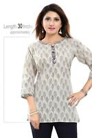 Women Indian Kurti Tunic Kurta Casual Printed Cotton Printed Shirt Dress NK59