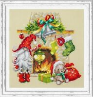 Counted Cross Stitch Kit MAGIC NEEDLE - Waiting for Christmas