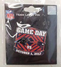 Carolina Panthers VS New England Patriots 10/1/17 Game Day Pin FREE SHIPPING