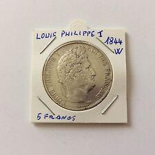 5 F Louis Philippe 1er en argent 1844 W