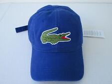 LACOSTE Men's Large Croc Cap NEW (BLUE) RETAL $40