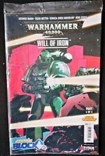 Warhammer 40000 Will Of Iron # 1 Comic Block Variant Exclusive Titan Nov 2016