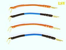 NEW VAN DAMME Professional Blue Series SPEAKER JUMPER CABLES x4 (2 Pairs).