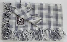 TISCHDECKE 100%Baumwolle Grau kariert ca 162 x 132 cm. Öko!