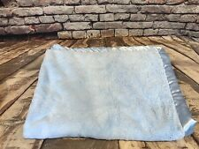 Circo Target Blue Baby Blanket Thick Plush Satin Trim Security Lovey